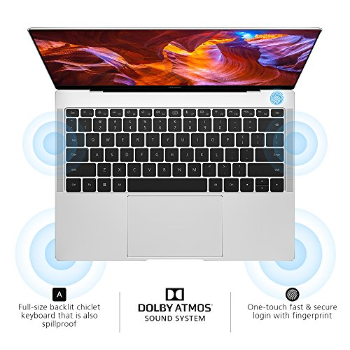 "Huawei MateBook X Pro Signature Edition Thin & Light Laptop, 13.9"" 3K Touch, 8th Gen i5-8250U, 8 GB RAM, 256 GB SSD, 3:2 Aspect Ratio, Office 365 Personal Included, Mystic Silver - Mach-W19B"