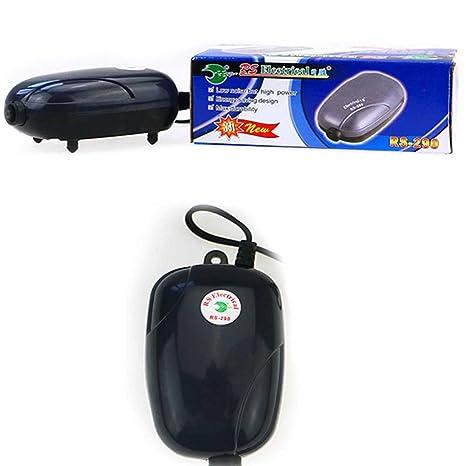 Lorjoy Mini Bomba de Aire silenciosa Potente Bomba de oxígeno 220V Acuario de la Bomba del