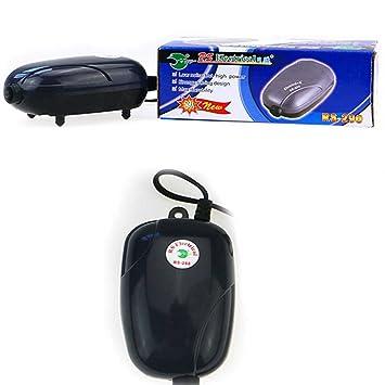 Demino Mini Bomba de Aire silenciosa Potente Bomba de oxígeno 220V Acuario de la Bomba del compresor de Pescado Tortuga del Tanque de reducción de Ruido: ...