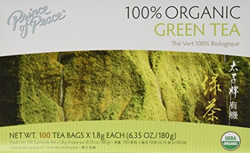 Prince of Peace Organic Green Tea 100 Tea Bags - 2 pack - Prince Organic Tea
