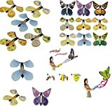 Gold Happy 100pcs/Lot magic flying butterfly from empty hands freedom butterfly magic tricks kids children toy magic props for gift
