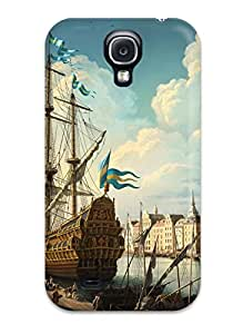 New Drawing Tpu Case Cover, Anti-scratch HEW-3718xhCxlzTe Phone Case For Galaxy S4