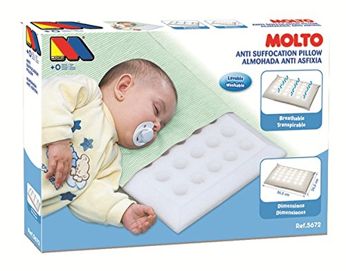 Molto Baby High Quality Breathable Air Flow Anti-Allergy Cot LARGE Bed Pillow