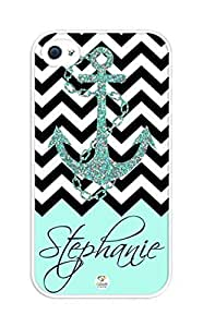 WMSHOPE? iPhone 6+ Plus Case Cover TURQUOISE AND CHEVRON PATTERN WITH ANCHOR S I