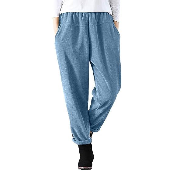 ... Elástico Pantalones de Cintura Alta para Mujer Pantalones Deportivos  Correr de Cintura Elástica Casual Pantalón Holatee  Amazon.es  Ropa y  accesorios b1094202273a