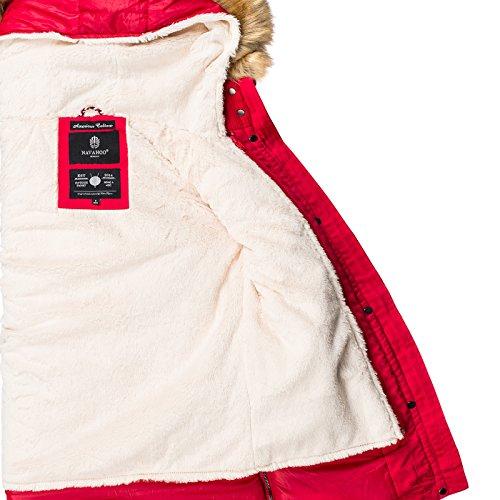 Manches Femme Blouson Navahoo Uni Rouge Longues qnO4pwgxR
