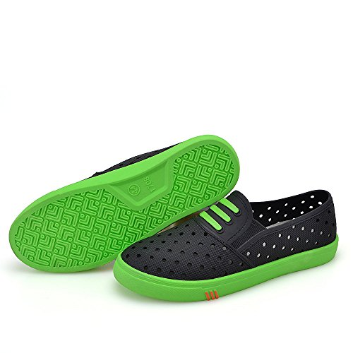 Earsoon Mens Slip On Sneakers Shoes - 2017 New Series For Mens Casual Boat Shoes Loafers Breathable Brand Shoes,Heavy Duty Fashion Easy On Off Black Green