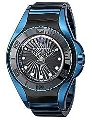 TechnoMarine Women's 214005 Blue Manta Analog Display Swiss Quartz Black Watch by TechnoMarine