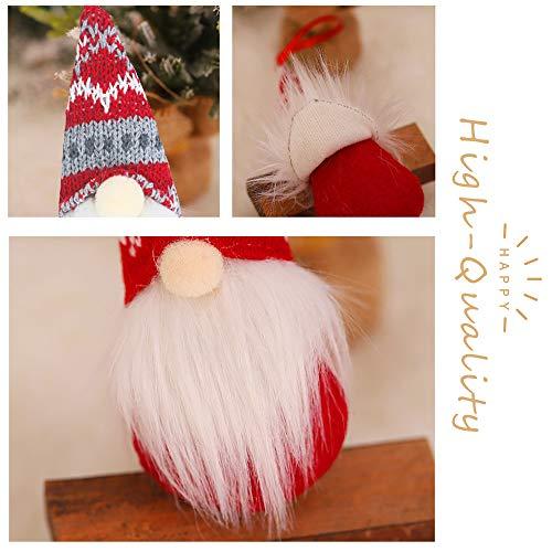 Gnomes Christmas Tree Ornaments Set of 8, Christmas Ornaments 2020 Handmade Plush Gnomes Santa Elf Hanging Home…