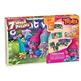Beautiful graphics depict your favorite characters from the Disney movie, Trolls. 7 wood puzzles in a variety of sizes. Box is compartmentalized for easy storage of each puzzle.
