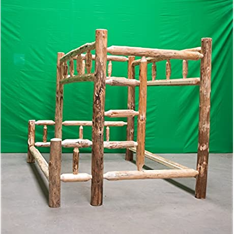 Midwest Log Furniture Rustic Log Bunkbed Full Over Queen