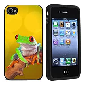 iphone covers IP4 Colorful Tree Frog For Apple Iphone 5 5s Case / Cover All Carriers
