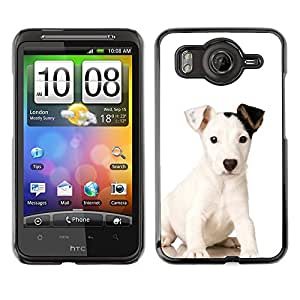Vortex Accessory Carcasa Protectora Para HTC DESIRE HD - Mutt Baby Mongrel Puppy Dog -