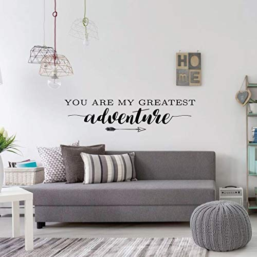 BYRON HOYLE Wall Decal for Couples - You are My Greatest Adventure Quote - Vinyl Decorations for Living Room, Kitchen, Bedroom - Wedding or -