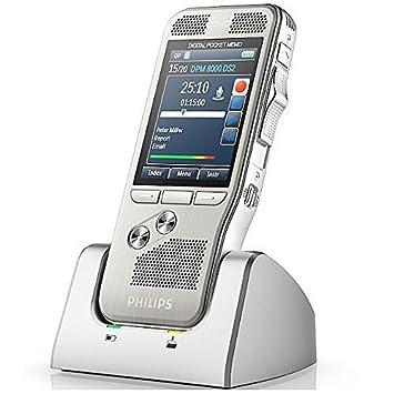 Philips DPM 8100 Pocket Memo Digitales Diktiergerät, Schiebeschalter ...