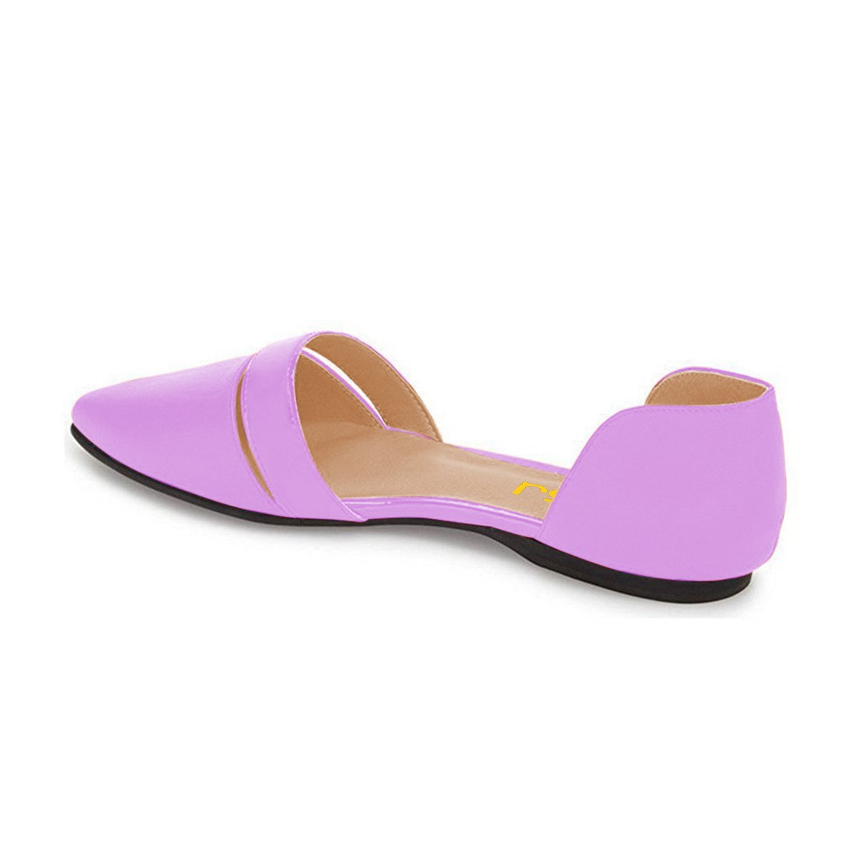 FSJ Women Cute D'Orsay Ballet Toe Flats for Comfort Pointed Toe Ballet Low Heels Dress Shoes Size 4-15 US B06Y4QM9DB 6 B(M) US|Purple 724918