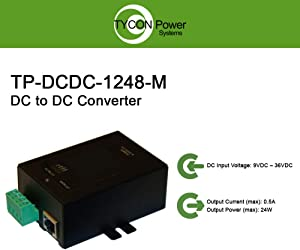 Tycon Systems TP-DCDC-1248-M 48V DC Out 24W DC to DC Converter and POE Inserter