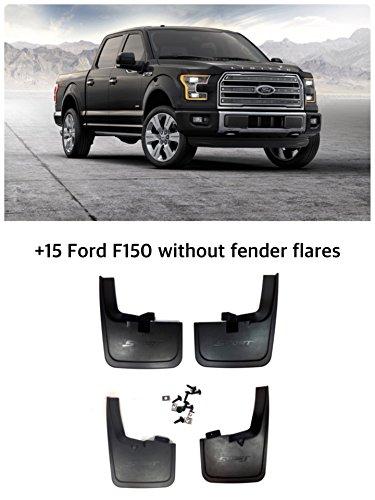 2015 2018 Ford F 150 Mud Flaps Guards Splash Front Rear 4pcs Set Without Fender Flares Sport Premiun Quality Abs Plastic High Resistance