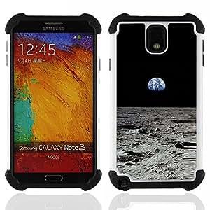 """SAMSUNG Galaxy Note 3 III / N9000 / N9005 - 3 en 1 impreso colorido de Altas Prestaciones PC Funda chaqueta Negro cubierta gel silicona suave (Estrellas fugaces"""")"""