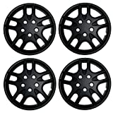 1996 ford ranger wheel cover - TuningPros WSC3-523B15 4pcs Set Snap-On Type (Pop-On) 15-Inches Matte Black Hubcaps Wheel Cover