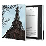 Sfxscs Slim Case for Kindle Oasis (9th Generation, 2017 Release) Lightweight PU Leather Cover with Auto Wake/Sleep, Strong Adsorption for Amazon All-New 7'' Kindle Oasis E-reader, Tower