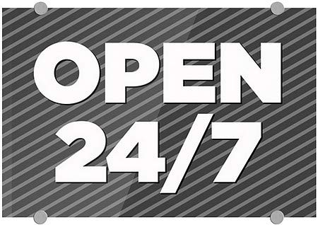 CGSignLab Nostalgia Stripes Premium Acrylic Sign 16x16 Open 24//7 5-Pack