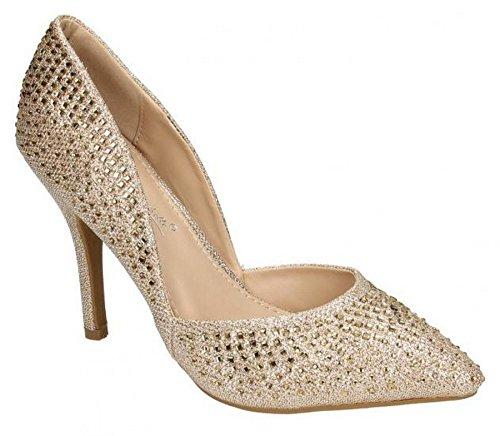Ann Michelle Kvinnor Konstläder Loafers 7 Guld