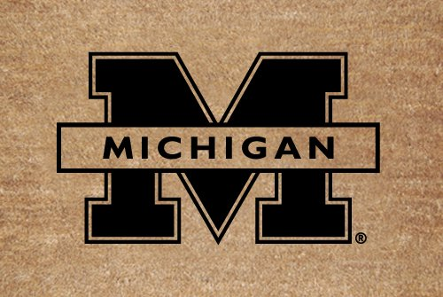 Michigan Wolverines Flocked Door Mat - Collegiate Coir Mat