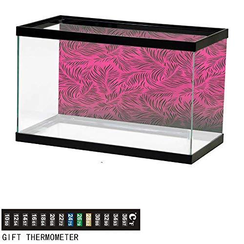 (Suchashome Fish Tank Backdrop Nature,Hawaiian Island Palms,Aquarium Background,48