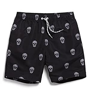 Kaxima Secado rápido impresión playa pantalones hombres ' cortos de un tamaño grande boxeadores de cinco puntos de verano