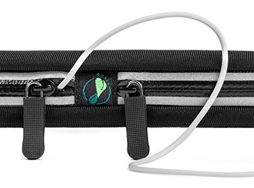 Foot Forward Sports Running Belt Waist Pack Plus, 2 Pocket, iPhone 7 6 6+ 6s 6s+ 5 SE, Android Samsung Note. No Bounce Waterproof Sweat Resistant Exercise Fuel & Dual Bag! Lightest Most Durable! by Foot Forward Sports (Image #2)