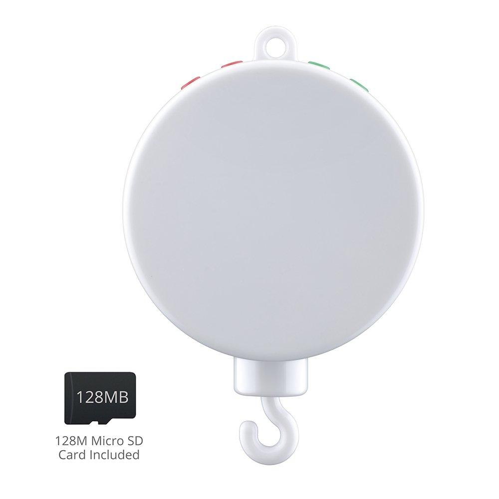 VicTsing - Caja de música campana cama para bebé, 128 MB, MicroSD, USB, color blanco