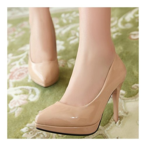 High Heel 36 Club Women Shoes Pointed Night Work apricot Thin Ifpq6S