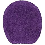 Bath Toilet Seat Cover Tumble Dry Low, Purple Iris