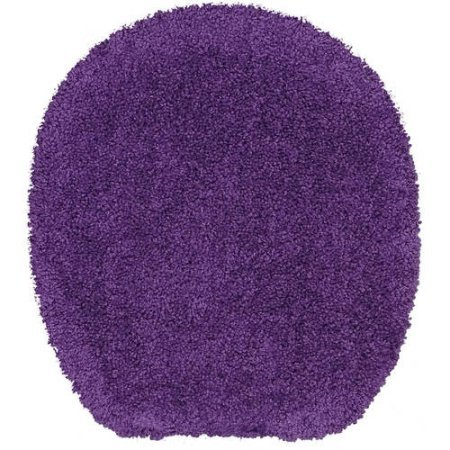 Bath Toilet Seat Cover Tumble Dry Low, Purple Iris by Mainstay
