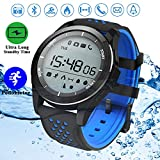 Duperym Waterproof Sport Smart Watch, Smart Watch Fitness Tracker Men Women Wrist Wearable Watch Prime Deals for Boy Girl Sports Outdoors Activity Pedometer Calorie Stopwatches (Blue)