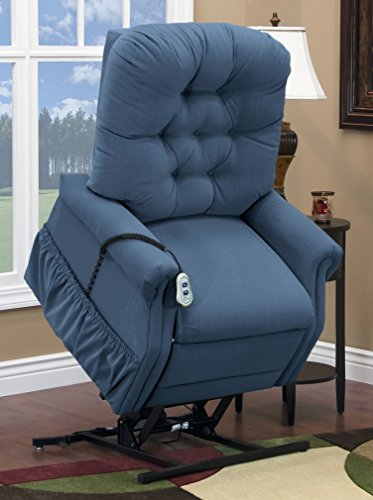 Med Lift 1555P Small Scale Lift Chair (Williamsburg Blue)