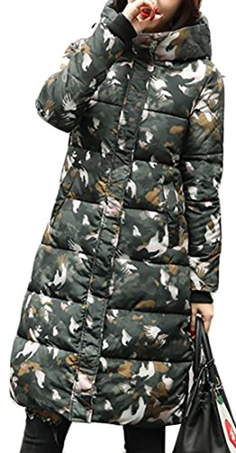 today 7 UK Down Jacket Cotton Hooded Winter Long Warm Womens Overcoat pqxHwFpT6