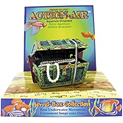 Penn Plax Aerating Action Ornament, Treasure Chest - Opens and Closes - Mini