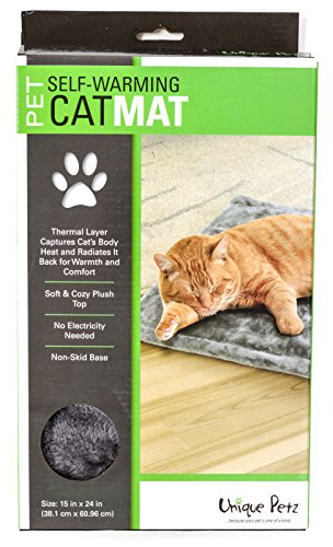 Unique Petz Self-Warming Comfort Pet Mat - Smoke