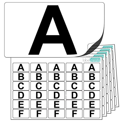 Premium Plastic Alphabet Letter Stickers A to Z (5 of each letter) + 25 Blank. Ultra Durable Label Stock. Suitable For Outdoor Use. 100% -