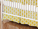 SheetWorld - Crib Skirt (28 x 52) - Lemon Yellow Links - Made In USA