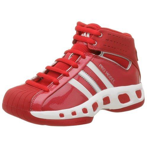 adidas Women's Pro Model Basketball Shoe,Univ Red/White,8.5 -
