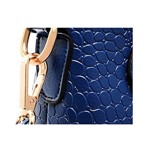 3 habitaciones de piel de cocodrilo del bolso Xagoo de hombro del bolso fijaron a las mujeres de las señoras y monedero (Estilo 4) Estilo 3