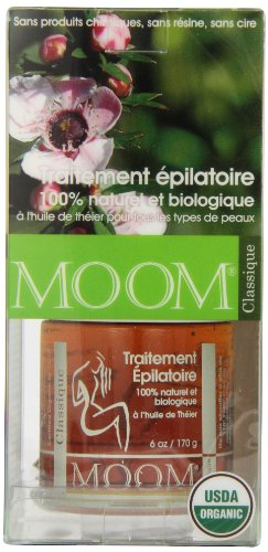 Moom Organic Hair Removal Kit, Tea Tree, 6-Ounce Package by Moom (Image #3)