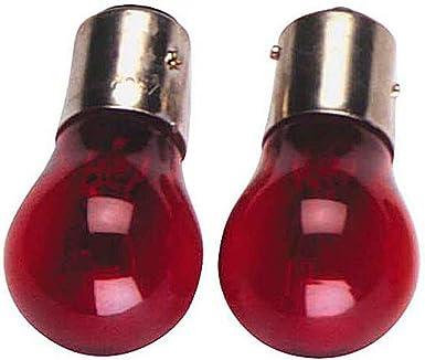 2er Pack Glühlampen Rot 12v 21 5w Rote Birnen Glühbirnen Bay15d 2 X 0933 Beleuchtung