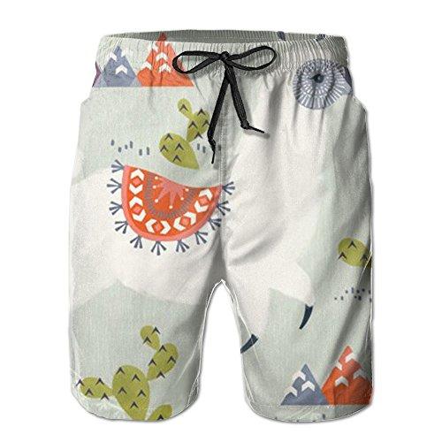 Game Life Shorts Docile Alpaca Mens Tree Quick Dry Swim Trunks Beach Shorts With Mesh Lining (Sea Life Set Short)