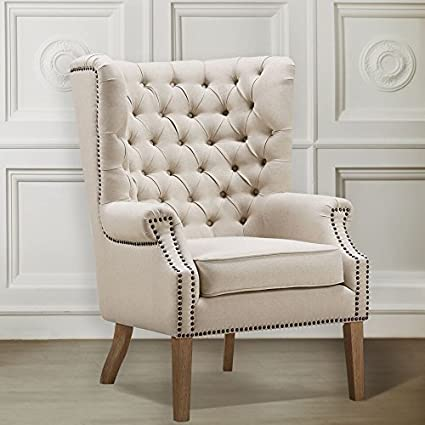 Charmant TOV Furniture Abe Linen Wing Chair, Beige