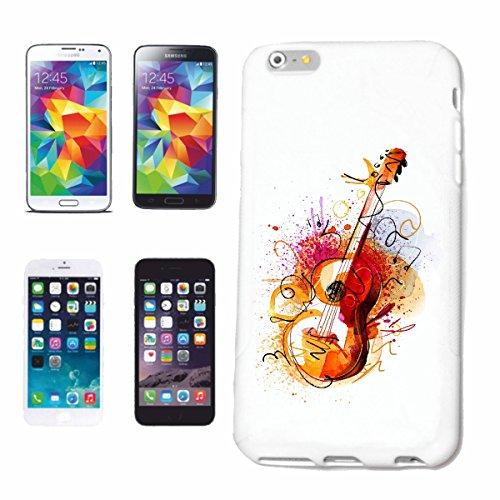 """cas de téléphone iPhone 7 """"GUITARE VIOLON BASS VINTAGE TECHNO JAZZ FUNKY SOUL TRANCE FESTIVAL HOUSE HIPHOP HIP HOP DJ"""" Hard Case Cover Téléphone Covers Smart Cover pour Apple iPhone en blanc"""