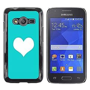 TopCaseStore / la caja del caucho duro de la cubierta de protección de la piel - Heart Minimalist Clean Love - Samsung Galaxy Ace 4 G313 SM-G313F